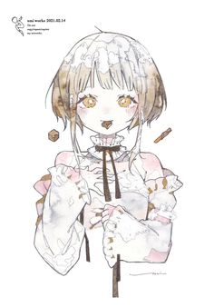 Cute Sketches, Anime Drawings Sketches, Cool Art Drawings, Kawaii Anime Girl, Anime Art Girl, Pretty Art, Cute Art, Anime People, Anime Fantasy