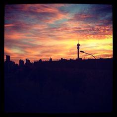 Jozi sunrise. City of Gold. Pic by @lerouxbotha.
