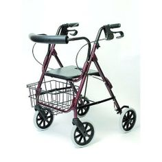 Deluxe Aluminum Rollator Black by Invacare. $1196.00. Durable, lightweight aluminum frame has easy squeeze, locking loop brakes and a comfortable, rounded, padded backrest that is easily removable with a simple push button. 8 polyurethane wheels are much easier to roll on carpet. The removable basket sits ha