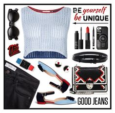 """Good jeans."" by wafa-lachaal on Polyvore featuring mode, J.Crew, Lemlem, Prada, Casetify, MANGO, NARS Cosmetics, Ann Demeulemeester, Marni et Rimmel"