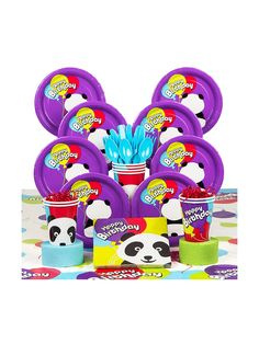 Birthday Panda Deluxe Kit (Serves 8)! See more birthday party planning ideas at BirthdayinaBox.com!