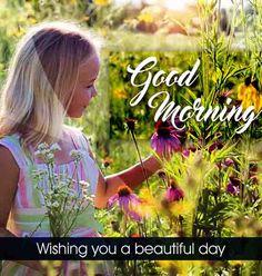 Good Morning Image with cute girl Beautiful Good Morning Wishes, Cute Good Morning Images, Good Morning Images Flowers, Latest Good Morning, Good Morning Gif, Good Morning Picture, Morning Pictures, Good Morning Quotes, Inspirational Good Morning Messages
