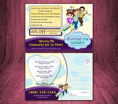Pediatric Dentistry/Orthodontic Practice Postcard by ddcorro