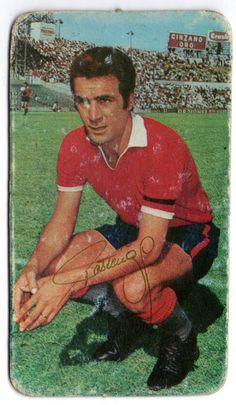 Figurita Tarjeton Futbol 1971 Jose Omar Pastoriza #80 Independiente de Avellaneda Messi, National League, Football, Club, Baseball Cards, Painting, Reyes, Tapas, Football Team