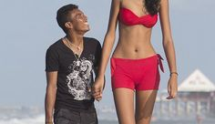 the world's tallest teenage girl,at Elisany is in a relationship with Francinaldo da Silva Carvalho, who stands at Giant People, Tall People, Crazy People, Strange People, Short People, Funny People, People People, Funny Things, Funny Images