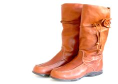 Traditional Finnish boots made with reindeer leather.