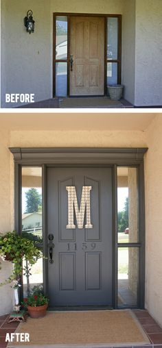 door   #diy #beforeafter - magic power of paint and trim
