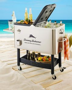 Deluxe Stainless Steel Rolling Party Cooler  I Absolutely Must Have This.