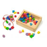 Autism Sensory Toys Lacing Beads Special Educational Need Wooden Learning Box Uk Ikea Train, Sensory Toys For Autism, Wooden Toy Boxes, Special Educational Needs, Animal Puzzle, Wooden Shapes, Bear Toy, Creative Play, Learning Toys