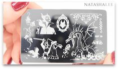 Maleficent Sleeping Beauty nail art Stamping Plate
