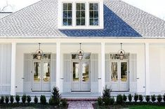 House Facade Cottage Exterior Colors Ideas For 2019 Best Exterior Paint, Exterior Paint Colors For House, Paint Colors For Home, Paint Colours, Exterior Shutters, White Shutters, Window Shutters, Gray Exterior, House Shutters