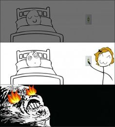 Rage comic The Light It Burns . Derp Comics, Funny Comics, Funny Relatable Memes, Funny Jokes, Hilarious, Funny Cute, The Funny, Rage Faces, 4 Panel Life