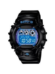 Casio Womens BG1006SA-1B Baby-G Shock Resistant Black and Blue Multi-Function Watch