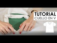 Tutorial Costura cuello en V - YouTube Sewing Basics, Sewing Hacks, Sewing Shirts, Altering Clothes, Sewing Projects For Beginners, Diy Clothes, Sewing Patterns, Crochet, Youtube