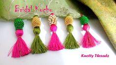 | DIY | How to make Designer Bridal Saree Kuchu. Tassels at Home in a very easy way | Tutorial |