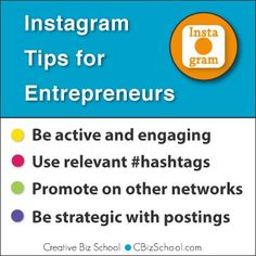 Instagram Tips for Entrepreneurs.  If you are a brand you should consider using Instagram to build your brand awareness. Here's tips and tools to help you.