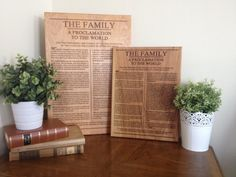 The Family Proclamation 11x15 Engraved On Wood LDS Art Mormon Sign Home Decor Eternal