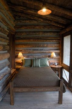 plain and simple but very dramatic; love beds on porches....   360 Ranch - Guest Cabins - Architect Portfolio | Miller Architects