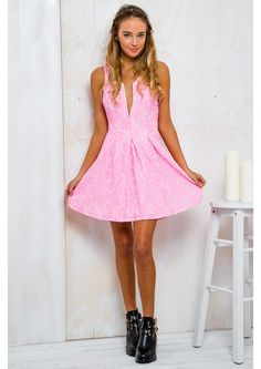Sprinkle Donut Womens Lace Dress - Lolly Pink $59.95 - Free Express Shipping Sprinkle Donut, Granddaughters, Lace Dress, Twin, Formal Dresses, Model, Free, Outfits, Clothes
