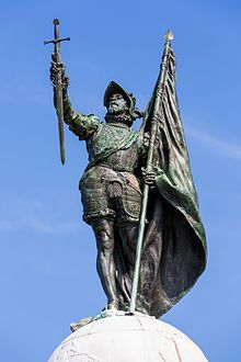Spain / Battles, Knights - Vasco Núñez de Balboa (c. 1475–  1519) was a Spanish explorer, governor, and conquistador. He is best known for having crossed the Isthmus of Panama to the Pacific Ocean in 1513, becoming the first European to lead an expedition to have seen or reached the Pacific from the New World. In 1520, Ferdinand Magellan renamed the sea the Pacific Ocean because of its calm waters.