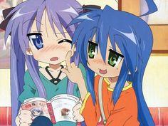 Konata and Kagami. Me Me Me Anime, Anime Love, All Anime, Anime Stuff, Otaku Anime, Anime Manga, Anime Art, Saitama, Konata Izumi