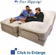 total home medical split king size premier adjustable bed by flexabed