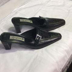 "Selling this ""Brighton black leather slip on size 6m"" in my Poshmark closet! My username is: kennjenn2010. #shopmycloset #poshmark #fashion #shopping #style #forsale #Brighton #Shoes"