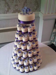 Wedding Cupcake Tower — Mini Cakes / Petit Fours