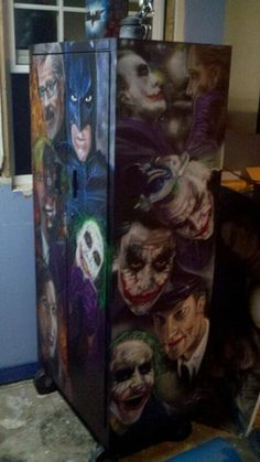 Dark Knight Airbrushed Cabinet.