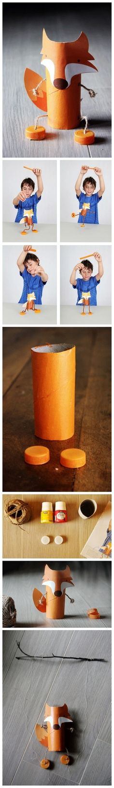 DIY CRAFT ** Toilet paper rolls ** What did the fox say....? toilet roll !