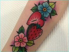 20 Sweet and Succulent Strawberry Tattoos