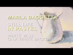 Pastel Painting - WHITE VASE - YouTube Pastel Artwork, Pastel Paintings, Pastel Landscape, Painting Lessons, White Vases, Art Tutorials, All Art, Still Life, Jr High