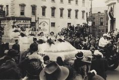 Floating beauties in the 1950 Azalea Festival parade (photo courtesy of the North Carolina Azalea Festival)