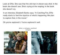Absolutely LOVE the depth of character Effie appears to be getting in Catching Fire.