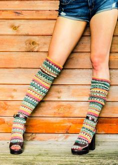 20c2328c37b Striped FAIR ISLE Knee Socks - Yellow
