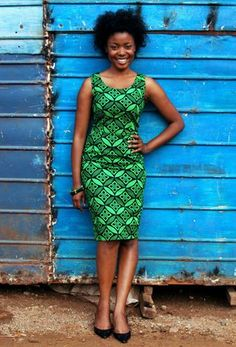Ethically produced dresses using African Print Fabric