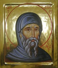"""I saw the snares that the enemy spreads out over the world and I said groaning, """"What can get through from such snares?"""" Then I heard a voice saying to me, """"Humility. Anthony the Great Christian Friends, Christian Quotes, Anthony The Great, Saint Antony, Church Icon, Russian Orthodox, Byzantine Icons, Orthodox Icons, Archangel"""