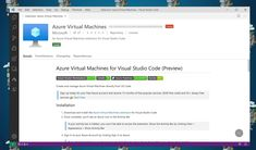 With the new Azure Virtual Machines (VMs) extension for Visual Studio Code (VS Code) you can now create and manage Azure VMs directly from VS Code. Bar Signs, Get Started, Microsoft, About Me Blog, Coding, Studio, Create, Study, Programming