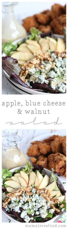 Apple Blue Cheese Walnut Salad.  This salad is AMAZING.