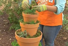How To Make an Herb Tower Container Garden at The Home Depot