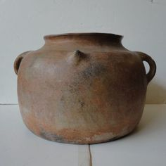 This is a very large and hard to find terra cotta Pot, typical from the South West of France by the Spanish Border. Note minor chips due to the age. Circa date 1900.
