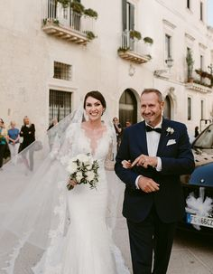 Charming & Traditional Apulia Wedding With A Modern Twist - Wilkie: The detailing of this brides veil looks beautiful with her lace dress!