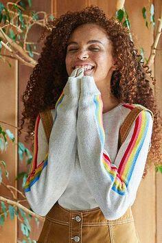 Cooperative Rainbow Striped Sweater