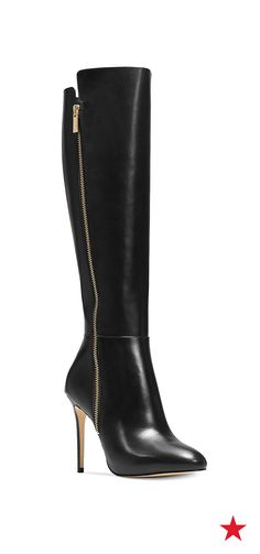 Take your style to new heights. Wear this fab pair of knee-high boots from MICHAEL Michael Kors over your favorite pair of denim or with a stylish sweater dress for a Fall look that's oh-so-chic