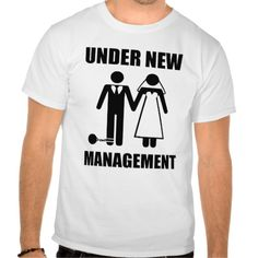 Just Married, Under New Management T Shirt T-Shirt, Hoodie for Men