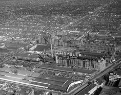 Buildings, Automobile Factories, Chrysler, Detroit, c. Abandoned Detroit, Abandoned Places, Dodge Motors, Lake Boats, Detroit History, Detroit Area, Assembly Line, State Of Michigan, Old Pictures