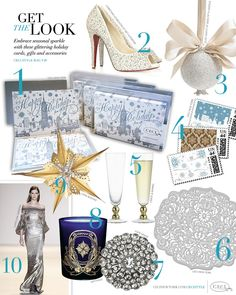 CeciStyle Magazine v18: Get The Look - Holiday Sparkle - Embrace seasonal sparkle with these glittering holiday gifts and accessories
