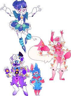 a few sketches to test out colors for my nightmare animatronic designs before I do anything proper Animal impulse Fnaf Oc, Anime Fnaf, Creepy Games, Miraculous, Fnaf Freddy, Star Ceiling, Pokemon Eeveelutions, A Hat In Time, Fnaf Sister Location