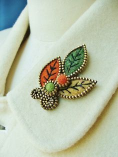 Combine old zippers with felt to make a unique and interesting brooch