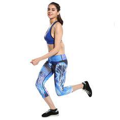 Women Fitness Yoga Pants Women Fitness Slim Sexy Yoga Leggings Elastic Pants High Waist Ladies Running Tights #E0